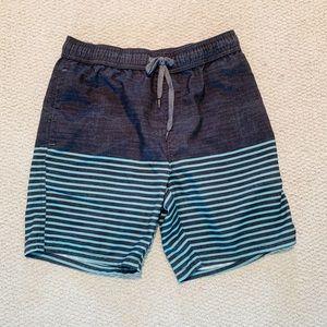 EUC Trinity Collective gray striped board shorts S